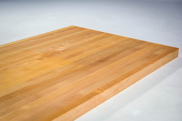 Pacific Coast Maple butcher block finished with Mineral Oil.