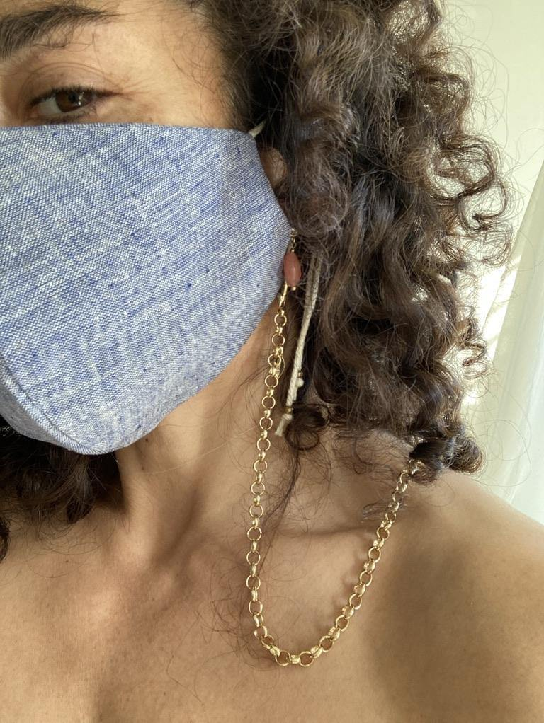 Face Mask & Chain Set - Chambray - Gather Brooklyn