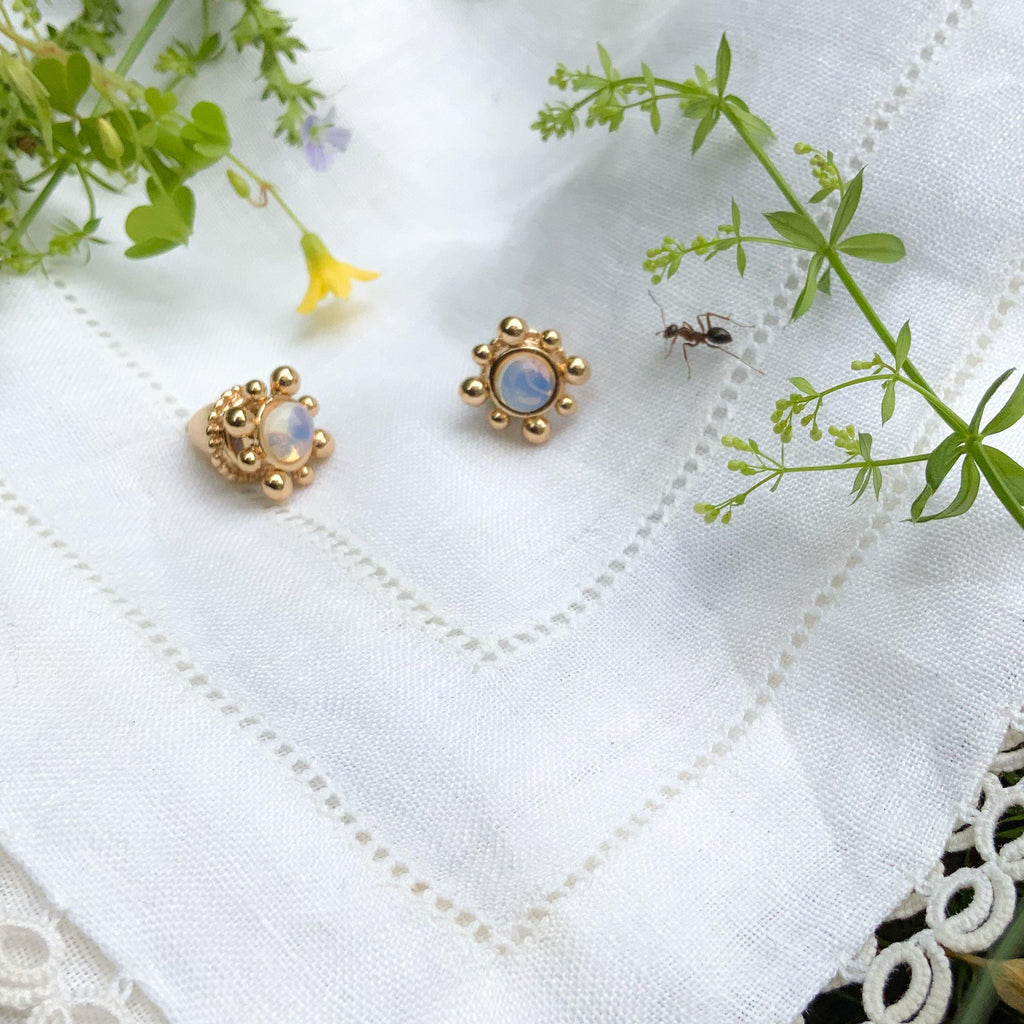 Inanna Studs - Gold - Gather Brooklyn