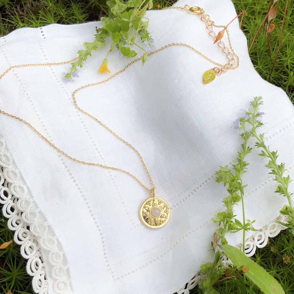 Rosette Amulet - Gold - Gather Brooklyn