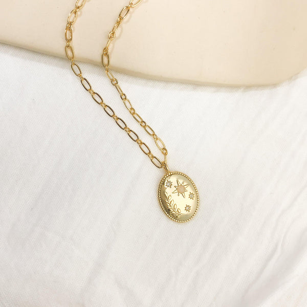 Daphne & Aster Necklace - Gold - Gather Brooklyn