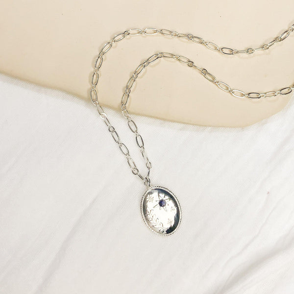 Daphne & Aster Necklace - Silver - Gather Brooklyn
