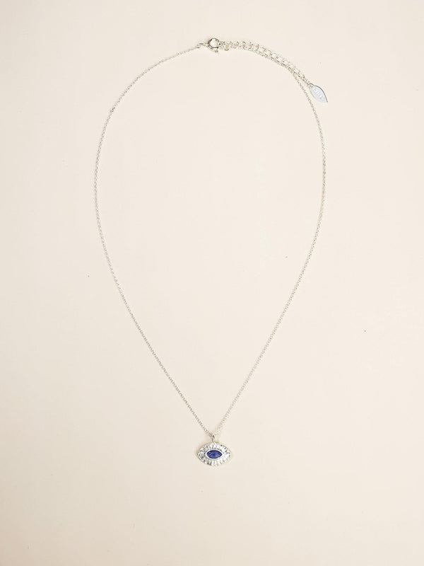 Dainty Evil Eye Necklace - Silver - Gather Brooklyn