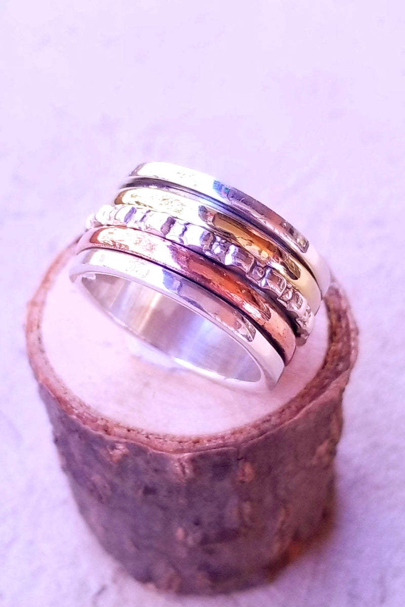 Sterling Silver Three Ring Spinner
