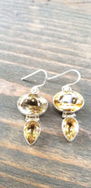 Oval Tear Drop Citrine Earrings