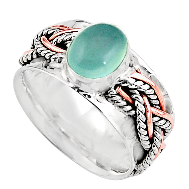 Braided Silver Aqua Chalcy - Revital Exotic Jewelry & Apparel