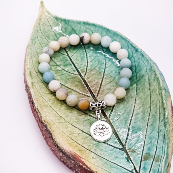 Frosted Amazonite Wrist Mala - Revital Exotic Jewelry & Apparel
