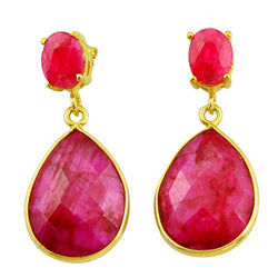 Malka Ruby Earrings - Revital Exotic Jewelry & Apparel