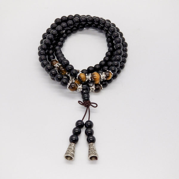 Onyx Tiger Eye Mala - Revital Exotic Jewelry & Apparel