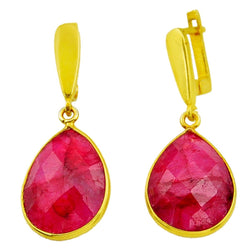 Rayna Ruby Earrings - Revital Exotic Jewelry & Apparel