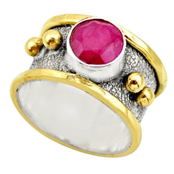Ruby Two Tone Golden Spheres - Revital Exotic Jewelry & Apparel