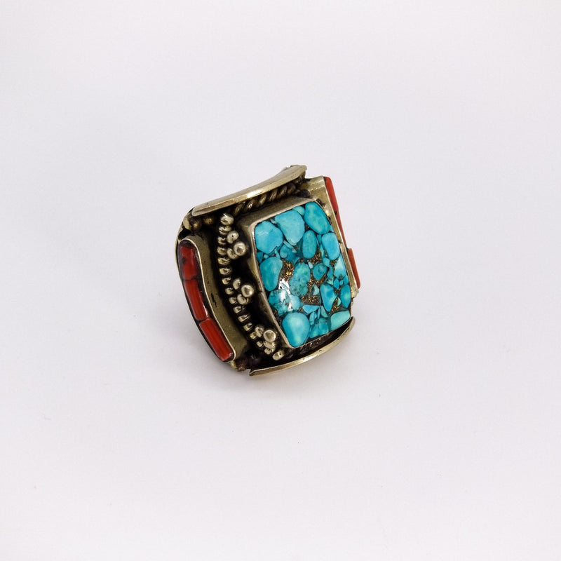 Wide Saddle Turquoise - Revital Exotic Jewelry & Apparel