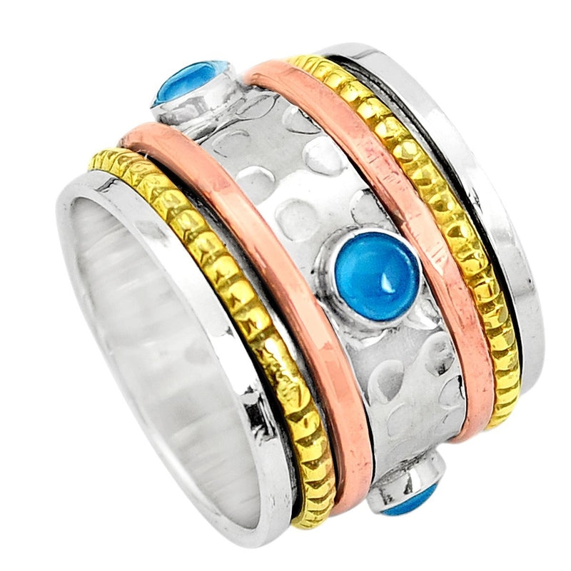 Wish For Blue Chalcedony Spinner Ring - Revital Exotic Jewelry & Apparel