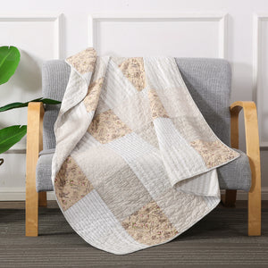 Country Lane Patchwork Throw Blanket