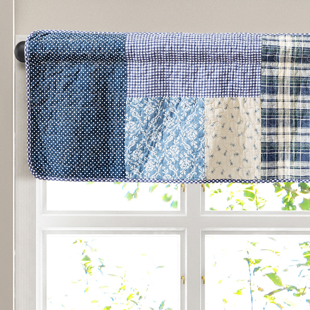 Blue Symphony Window Valance