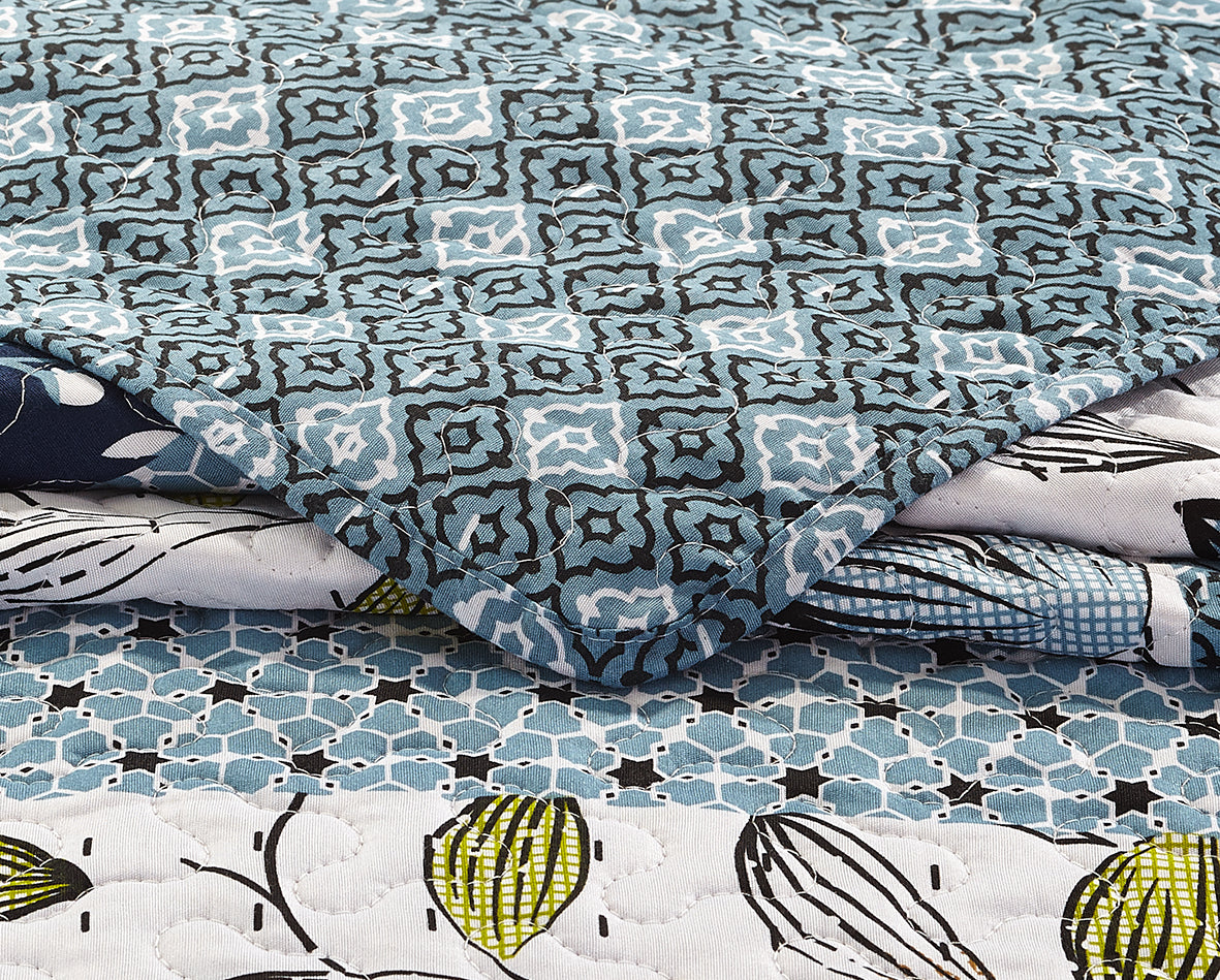 Pacific Coast Printed Quilt + Shams