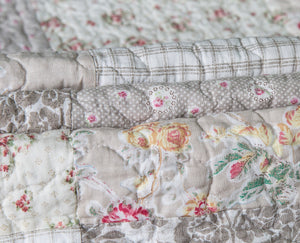 Walk in the Cotswolds Patchwork Quilt + Shams