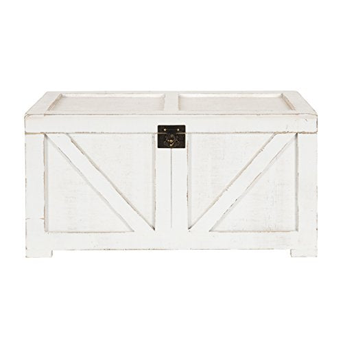 Kate and Laurel Cates Farmhouse Decorative Wood Trunk