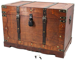 Wooden Storage Chest Coffee Table Square by Well Pack Box