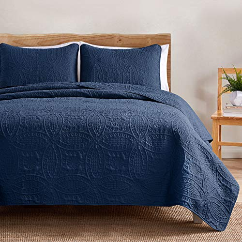 VEEYOO Bedspread Quilt Set - Soft Microfiber Lightweight Coverlet Quilt Set for All Season