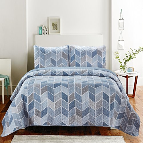 SLPR Heather Lightweight Printed Quilt Set