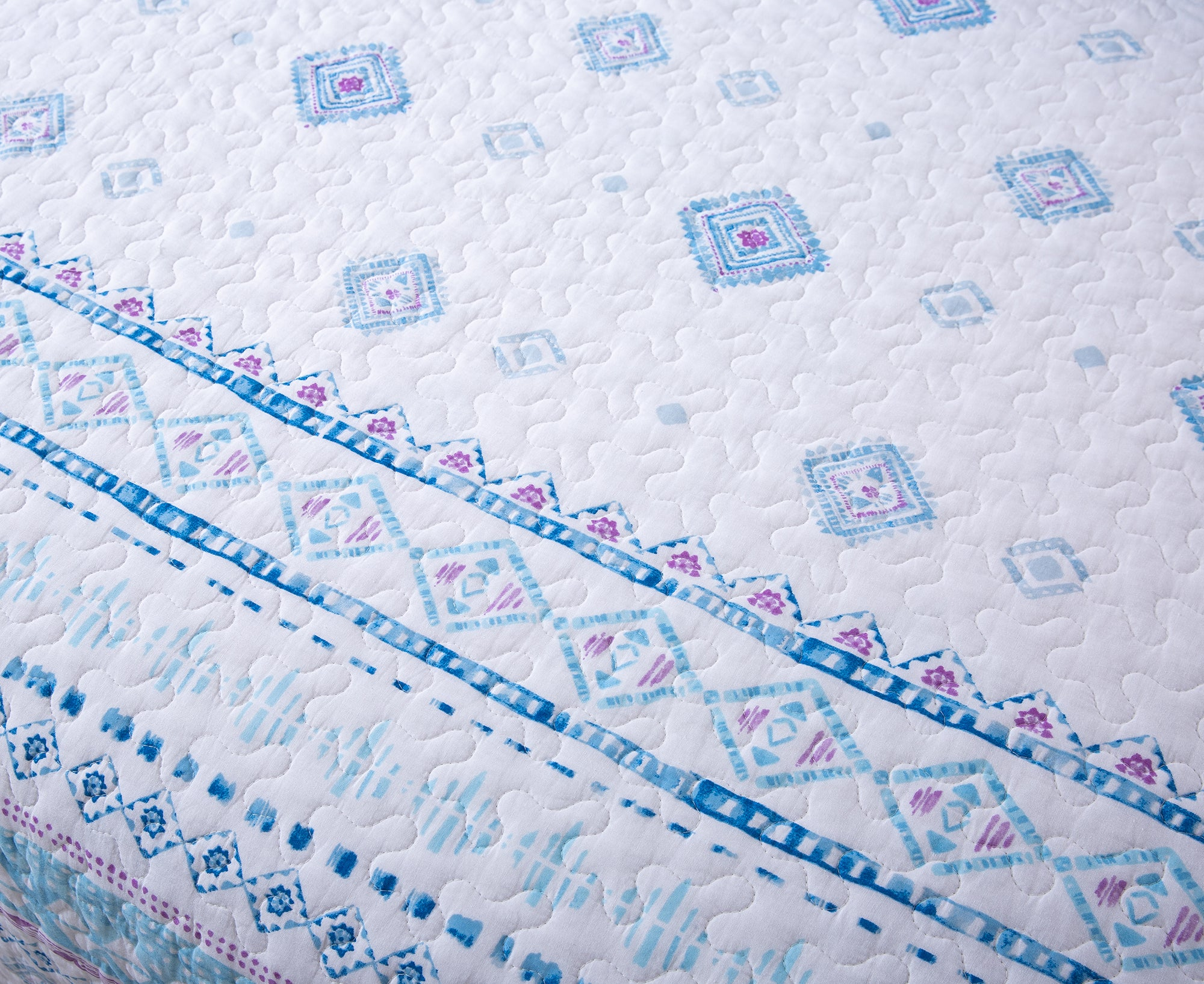 Morning Glory Cotton Quilt + Shams