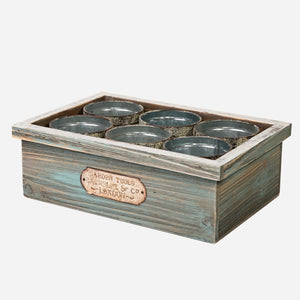 Wood Crate with Tins