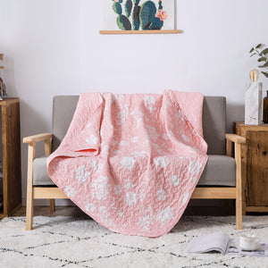 Petal Perfection Printed Throw Blanket