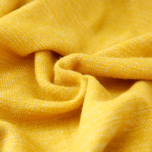 Solid Woven Throw, Yellow