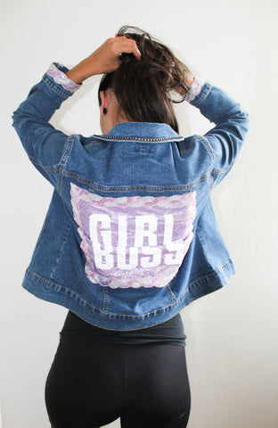 Girlsboss Glitter Jeans Jacket