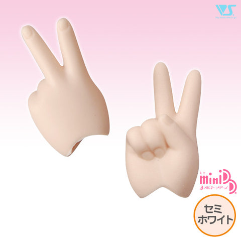 MDD-H-02-SW/ Scissors/Peace Hands/Semi-White