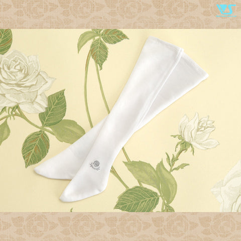 Ash Rose School Socks (White)