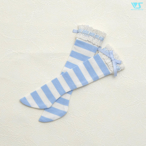Laced Socks (Blue Stripes) / Mini