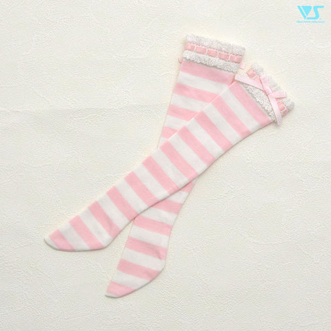 Laced Socks (Pink Stripes)