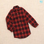 Flannel Checked Shirt (Black x Red) / L