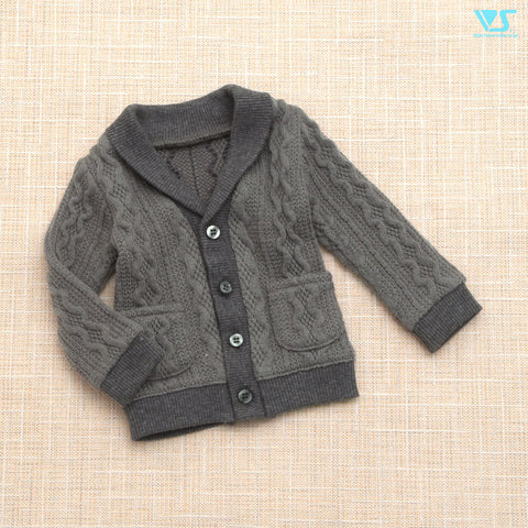 Knitted Cardigan (Gray) / M