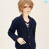 Knitted Cardigan (Navy) / L