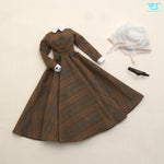 Glen Check Long Dress Set