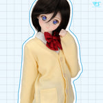School Cardigan (Cream Yellow)