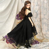SD16 Long Back Dress (Black)