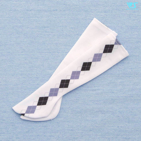 Thigh-High Socks / Mini (Argyle / Black x Gray)