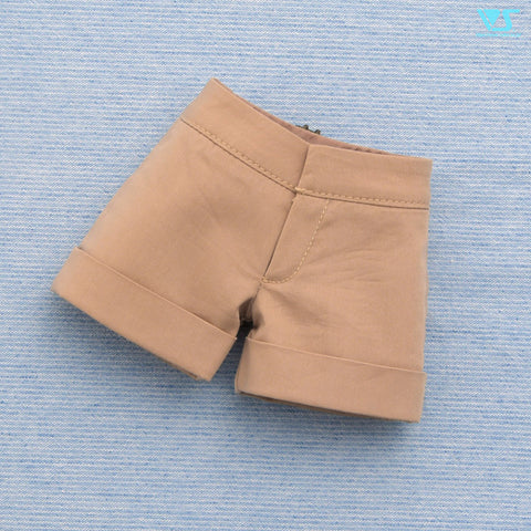 Flared Shorts / Mini (Beige)
