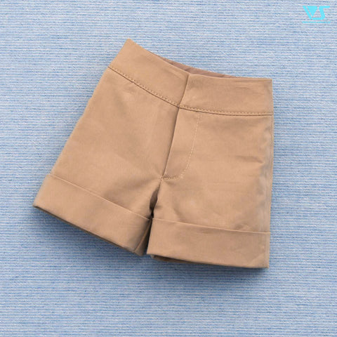 Flared Shorts (Beige)