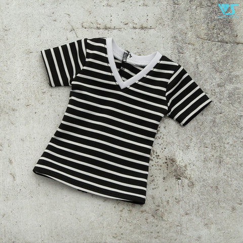 SD V-Neck T-Shirt (Striped / Black)
