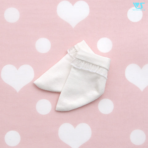 Crew Socks Mini (White Frilled)
