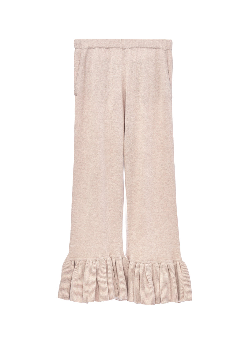 Flared Cashmere Cropped Pant