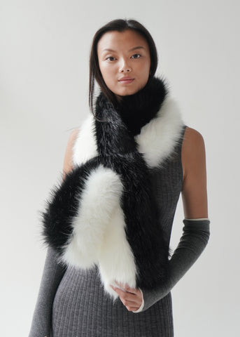 Fox Fur Magnet Scarf