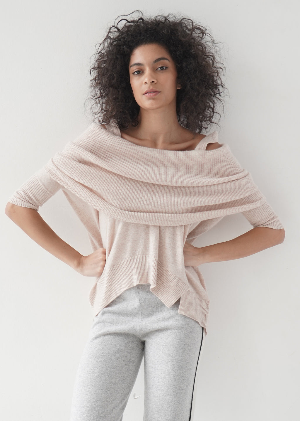 Off Shoulder Cashmere Top