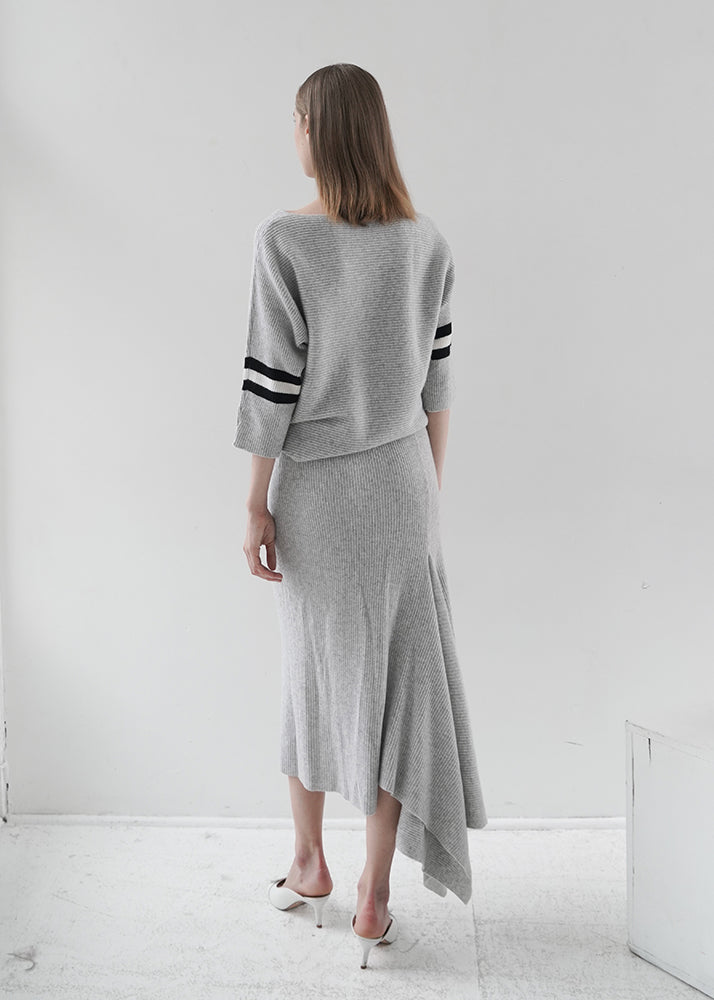 Cashmere Fish Tail Split Long Skirt