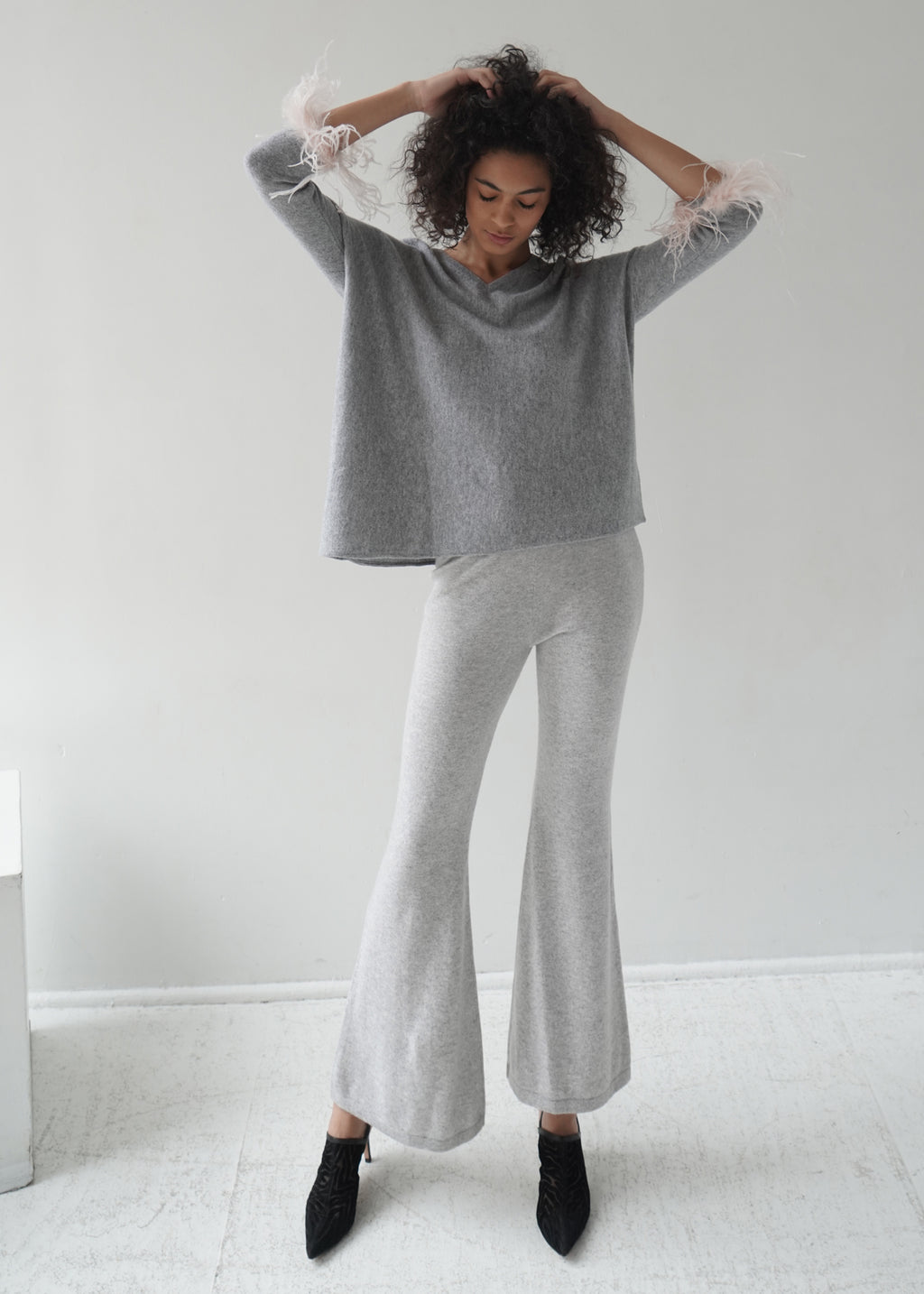 Cashmere Flared Trousers